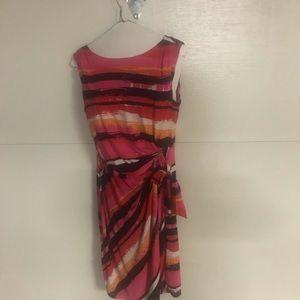 Tahari multiple color knit dress